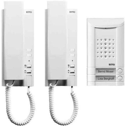 RITTO 16732/70 Minivox Wohntelefon-Set 2WE weiss