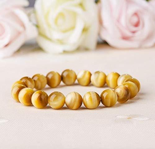 Golden Success Bracelet - Natural Golden Tiger Eye Bracelet - Bring Success - Energy - Happiness Bracelet for Luck - Gemstone Stretch Bracelet (8mm)