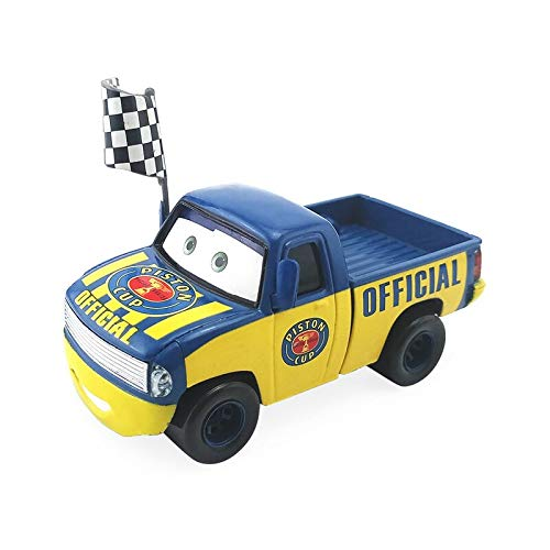 Disney Disney Pixar Cars Dexter Hoover with Checkered Flag 1:55 Diecast Metal Alloy Toy Car Model Loose Boy Gift