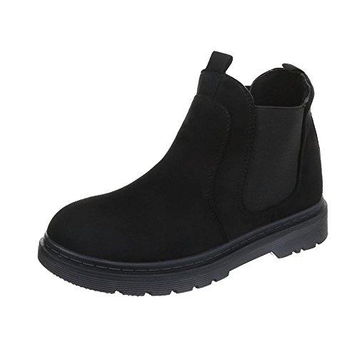 Women's Boots Block Heel Chelsea Boots at Ital-Design Black
