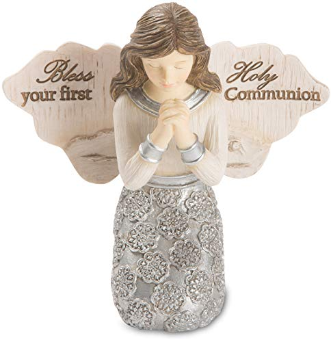 (Pavilion - Bless Your First Holy Communion - Praying Girl Angel Figurine 3.5 Inches)