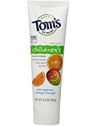 Tom's of Maine Natural Children's Fluoride Toothpaste, Outrageous Orange Mango, 4.2 Ounce