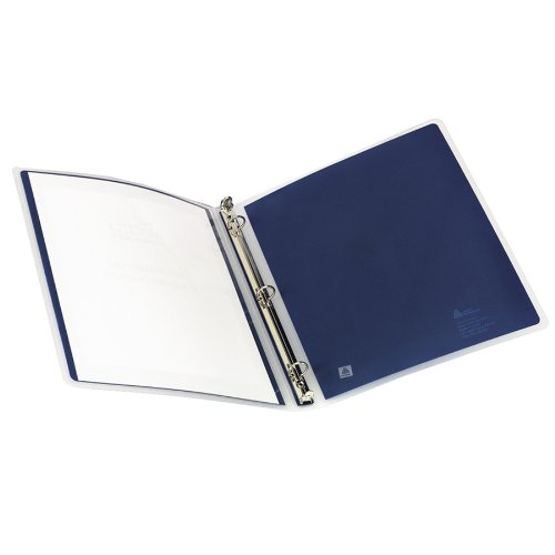 Avery Flexi-View 1 Inch Binder, Navy Blue, 1 Binder