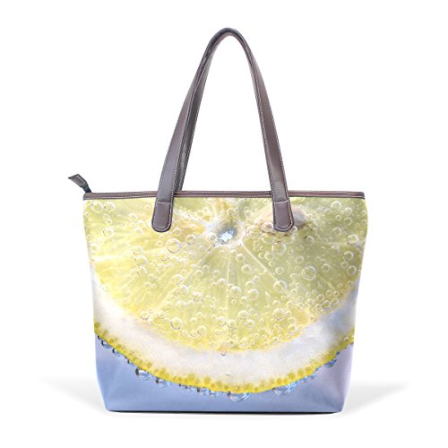 Ladies Large Handbag Bags Women Handle Patern Lemon Top Bubbles Shoulder Bennigiry Slices Tote PHa7wqxx5