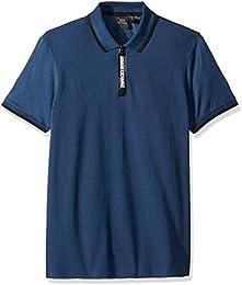 Men Short sleeve Polo With Logo Collar Tape