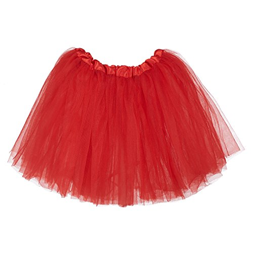 My Lello Little Girls Tutu 3-Layer Ballerina Red (10 mo - 3T) -