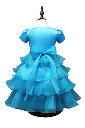 Bolero Girls' YMING Long ' Pearls And And Dress Big With Blue Bolero Dress 55HBWnY