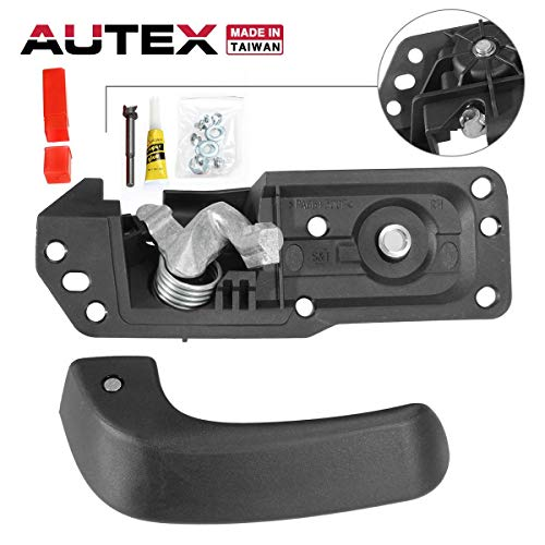 AUTEX Interior Door Handle Front/Rear Right Compatible with Chevy Silverado,GMC Sierra 1500 2500 3500 HD Tahoe Yukon,Cadillac Escalade 2007-2014 Door Handle 80375