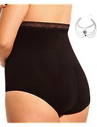Plus Size High Waist Seamless Panty Brief Firm Control Shapewear Women