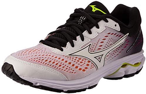 Mizuno Australia Women's Wave Rider 22 Running Shoes, WhiteWhiteBlack, 7.5 US