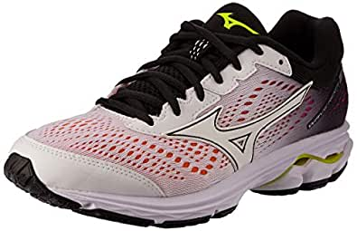 Mizuno Australia Women's Wave Rider 22 Running Shoes, White/White/Black, 9 US
