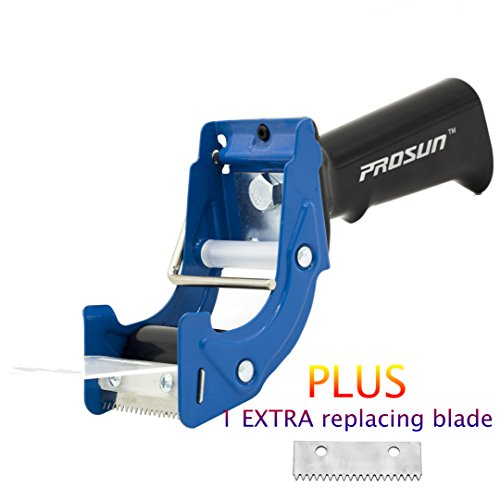(PROSUN Fast Reload 2 Inch Tape Gun Dispenser Packing Packaging Sealing Cutter Blue)