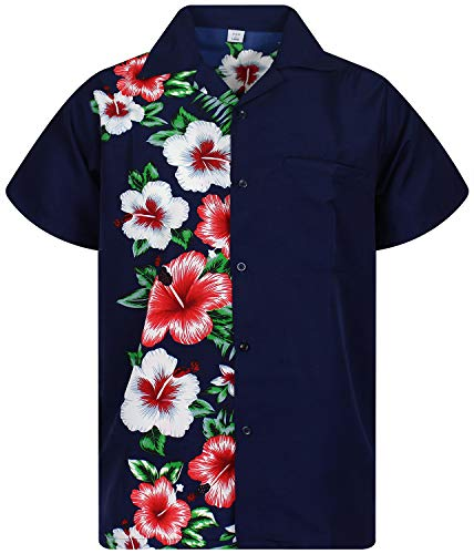 - V.H.O Funky Hawaiian Shirt, VHO-Wedding, Blue, 3XL