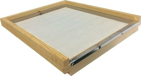 Langstroth Screened Floor for bee hive- with entrance block (pine) Mann Lake