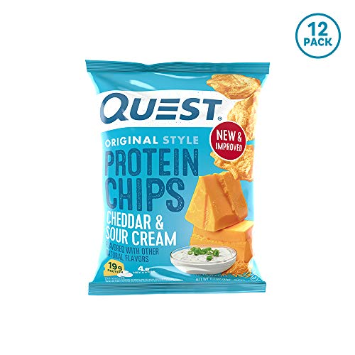 Quest Nutrition Protein Chips, Cheddar  Sour Cream, Pack of 12