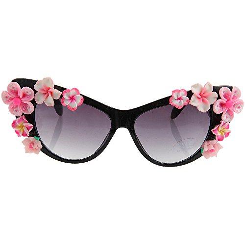 de Beach sol ojos Dulce color la mano gato de sol Gafas a protección señora de UV de rosa de Summer hechas de Gafas Style los flor de la q4F4taw