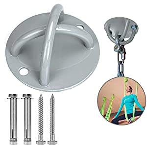 Well-Being-Matters 41FfH1vL%2BSL._SS300_ CNSSKJ Wall Mount Suspension, Ceiling Anchor Suspension Trainer Bracket for Suspension Straps, Gymnastic Rings, Yoga…