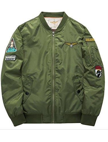 Style1 Giacca Uomo Cappotto vert Armée epais Matchlife v04ztqFwn