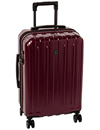 Delsey Luggage Helium Titanium Carry-On EXP Spinner Trolley Red, Black Cherry, One Size