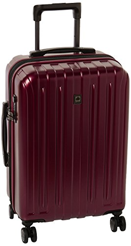 Delsey Luggage Helium Titanium Carry-On EXP Spinner Trolley Red, Black Cherry, One Size by DELSEY Paris