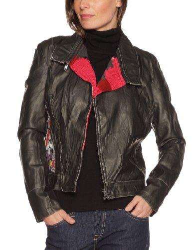 Microfibre À Femme Veste World Noir Épaulettes Desigual IafT7qxw