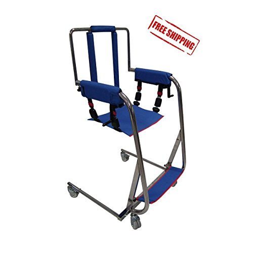 Easy Body Lift Multifunctional Manual Patient Disabled Transfer Lift Chair Patient Transfer to Bathroom Wheelchair Bed Car Weight Cap 300 lbs Made in Europe ()