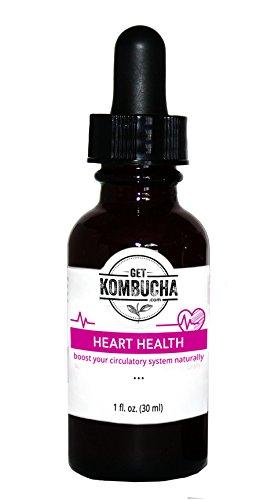 Healthy Heart Tonic - Liquid Heart Drops with Organic Kombucha Tea Extract (1-2 Month Supply) 1oz, Money-back Guarantee (1) Heart Tonic