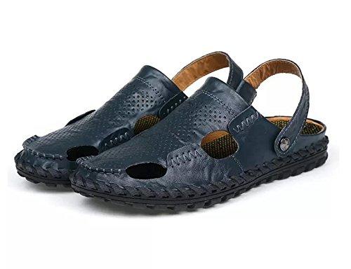 Xing Lin Flip Flop De La Playa Nuevo Hombre De Sandalias De Playa De Doble Uso Zapatos Verano Hombres Transpirable Zapatos Casual Zapatillas Sandalias Zapatos Marea De Hombres 8191 blue