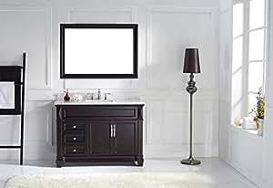 Virtu USA MS-2648-WMSQ-ES Transitional 48-Inch Single Sink Bathroom Vanity Set, Espresso
