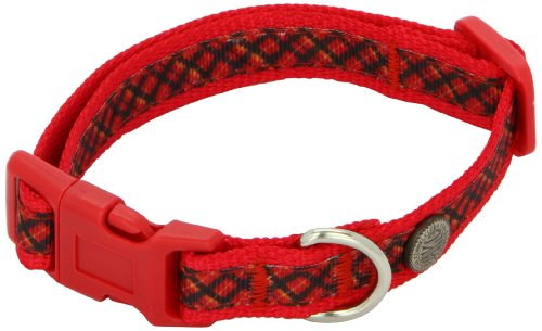American Kennel Club Adjustable Dog Collar, Small, Red