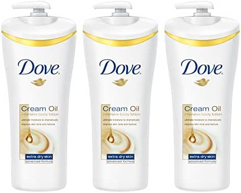 Dove Body Lotion, Cream Oil Intensive 13.5 oz, 3 Count