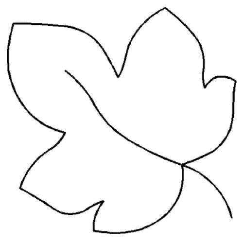 "Quilting Creations Maple Leaf Quilt Stencil, 4"""
