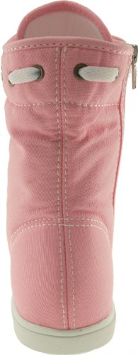 Taller Holes 8119 Canvas 9 Shoes Maxstar Zipper Boots Insole Middle Pink qtwHWE