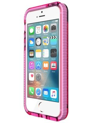 cheap for discount be540 20ca6 Tech21 Evo Durable Impact Resistant Case Cover with FlexShock Technology  and Meshed Pattern for iPhone 5/5S/SE - Pink/White