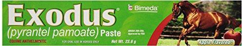 Exodus Paste - Bimeda EXODUS Equine Deworm Paste for Horses, Pyrantel Pamoate, 23.6gm, Apple Flavor