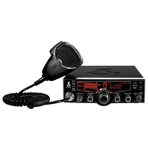 Cobra 29LX Professional CB Radio - NOAA Weather Channels and Emergency Alert System, Selectible 4-Color LCD, Auto-Scan, Alarm and Radio Check ()