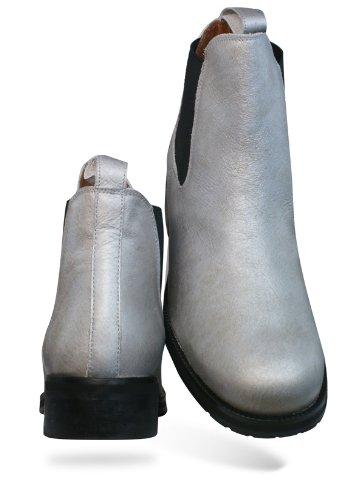 Ankle Boots Led argenté femmes 67 Cuir SixtySeven qaOXIww