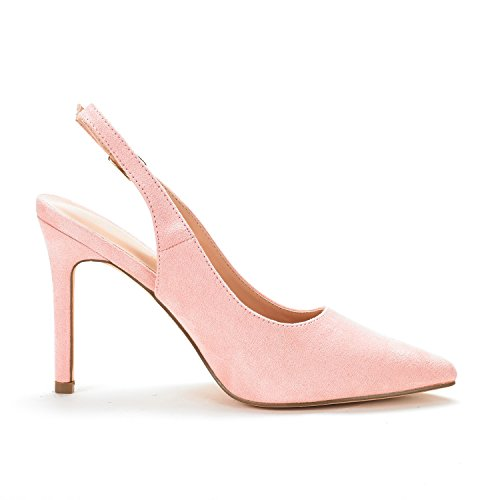 Pink Pumps Suede Women's PAIRS Slingback DREAM Iqp77w
