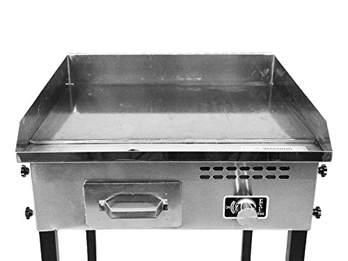 Bioexcel Taco Cart with 21'' x 16'' Stainless Steel Griddle - Portable Propane Gas Burner Plancha - Heavy Duty by Bioexcel