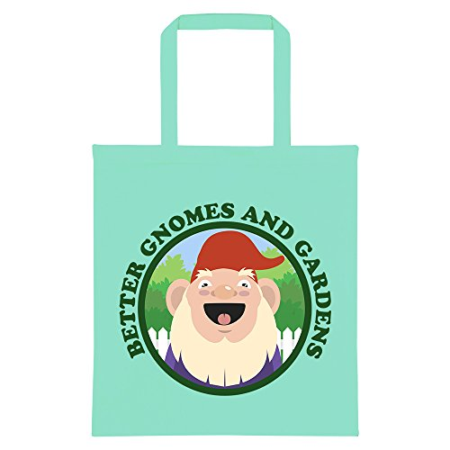 RealSlickTees Better Gnomes and Gardens Tote Bag Mint Green