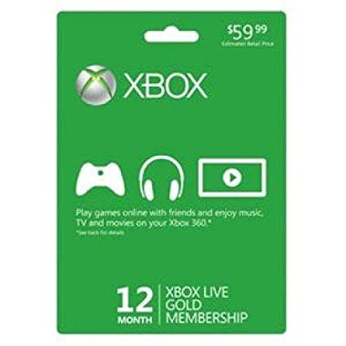 Microsoft Xbox LIVE 12 Month Gold Membership (Physical Card)