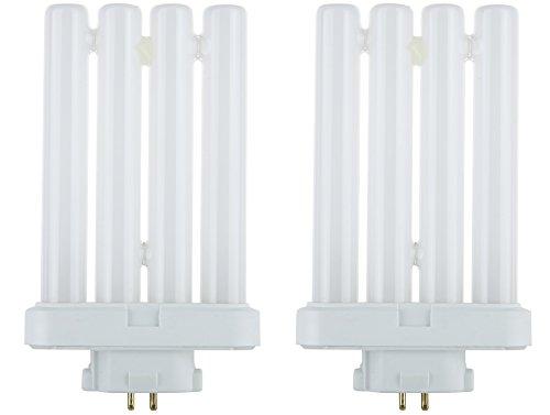 STERL LIGHTING 2 Bulbs FML27/65 FML 27 Watt Quad Tube Compact Fluorescent Light Bulbs, 6500K Color Temperature, 4-pin GX10q-4 Base