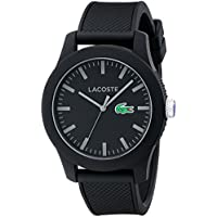 Lacoste Men's 2010766 Lacoste.12.12 Black Watch with Textured Band