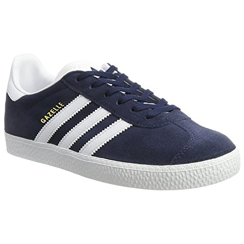adidas Youth Gazelle Collegiate Navy Footwear White Suede Trainers 5.5 US ()