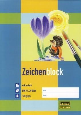 10 Zeichenblöcke / 20 Blatt je Malblock / DIN A4 / 120g/m²