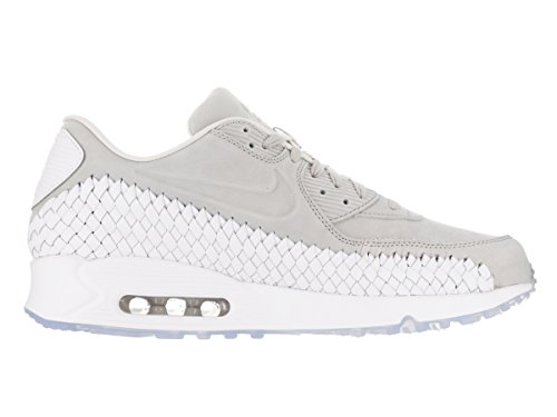 Nike Air Max 90 Woven, Chaussures de Running Entrainement Homme Gris (Lt Iron Ore / Lt Iron Ore-white-phantom)