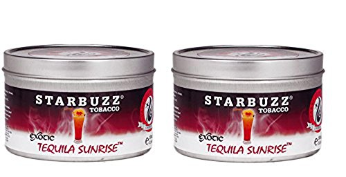 Starbuzz Hookah Tobacco Flavors 100g, ( Exotic Tequila Sunrise )-2 PACK