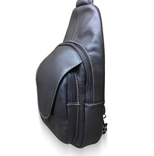 Cuerpo Upmarket Artificial Hombres Pecho Brown Paquete Bolsa Honda Yendo Cuero Los Para Del Hombro Que Bicyling De Cruz Acampa Yt0xqFw