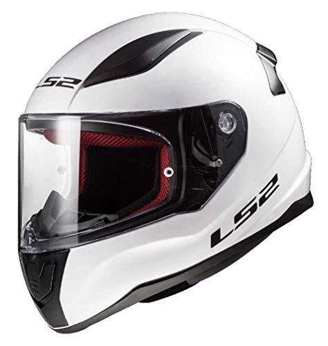 LS2 Helmets Unisex Adult Full Face Helmet (White, Small)