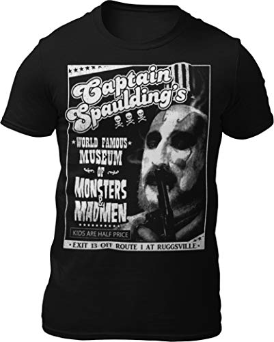 Death Is Coming Captain Spaulding - Monsters and Madmen V2 T-Shirt Black]()